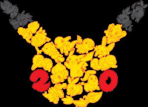 Logo dwudziestych urodzin Pokemona