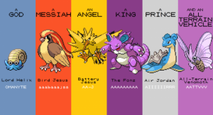 Humorystyczna grafika nawiązująca do okresu przechodzenia Pokémon Red w ramach Twitch Plays Pokémon