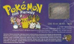 Pokemon: Film Pierwszy - kaseta naklejka