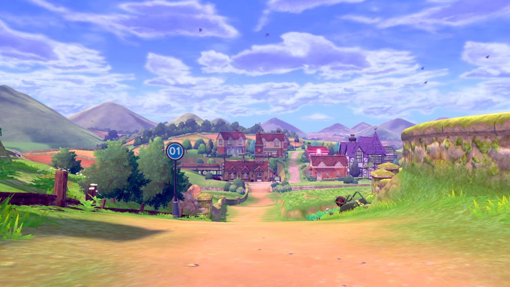 Pokémon Sword i Pokémon Shield krajobraz Galar