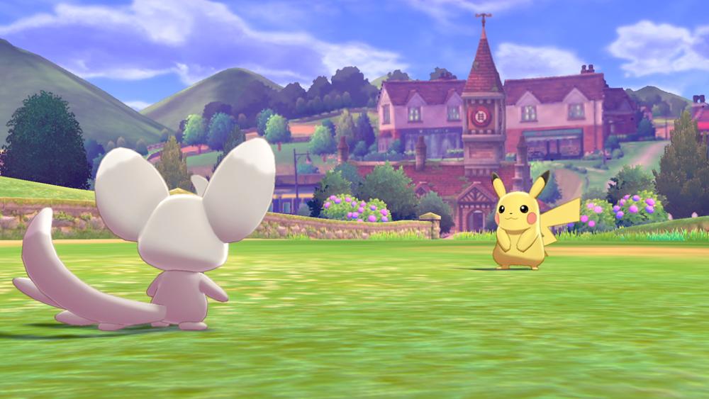 Pokémon Sword i Pokémon Shield walka z dzikim Pokemonem