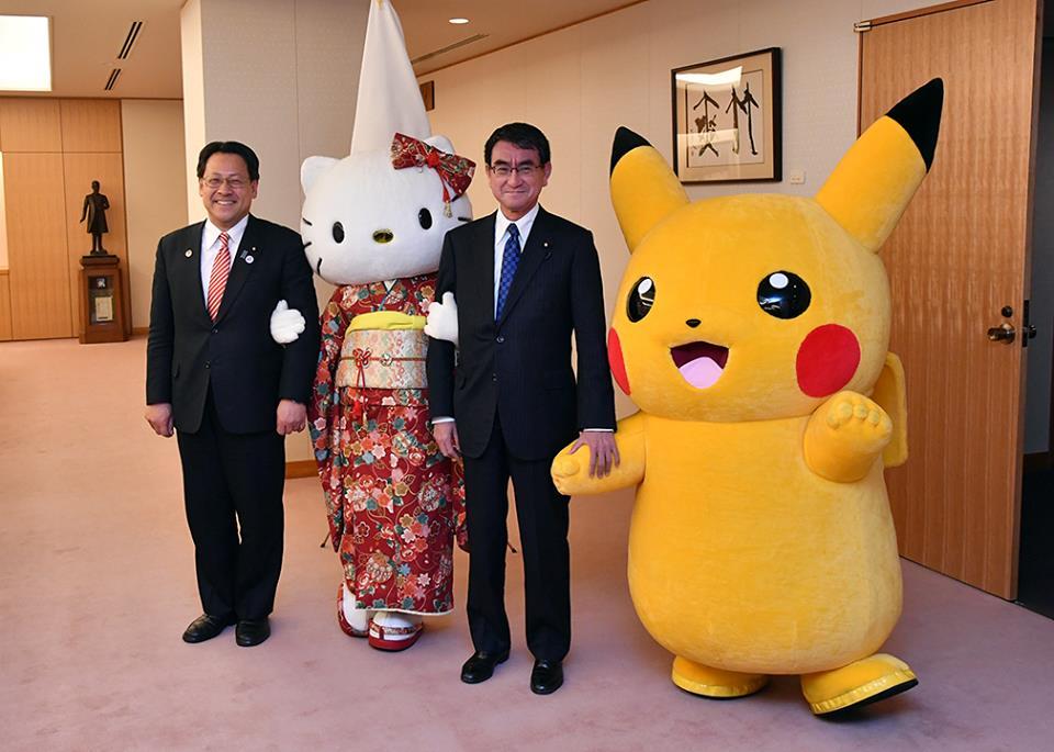Pokémon i Hello Kitty maskotkami Expo 2025