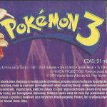 Pokemon 3 Zaklęcie Unown naklejka na kasecie VHS