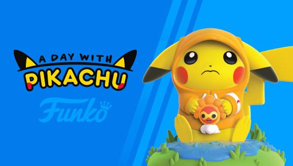 Figurka Dzień z Pikachu - Deszczowy dzień